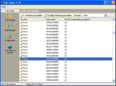 XXL-Dialer 1.20 screenshot