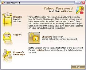Yahoo Messenger Password 2.0.370 screenshot