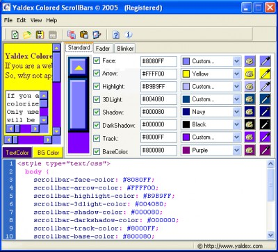 Yaldex Colored ScrollBars 1.2 1.2 screenshot