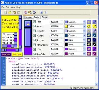Yaldex Colored ScrollBars 1.9 1.9 screenshot
