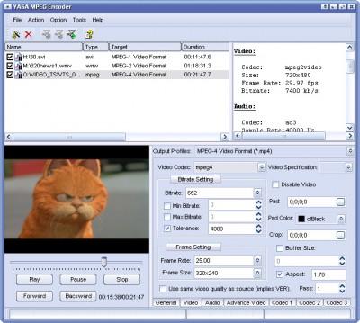 YASA MPEG Encoder 3.2.30.125 screenshot