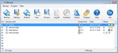 Z-DBackup 6.5.00 screenshot