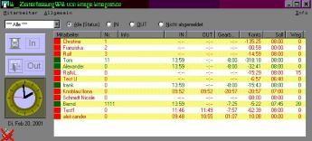 Zeiterfassung4All 5.3 screenshot