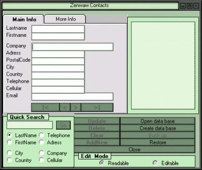 Zenwaw Contacts 1.00 screenshot