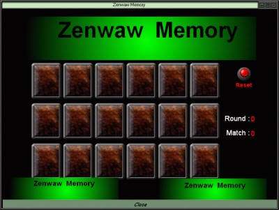 Zenwaw Memory 1.00 screenshot
