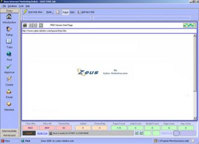 Zeus 1000 Internet Marketing Robot 4.2.91 screenshot