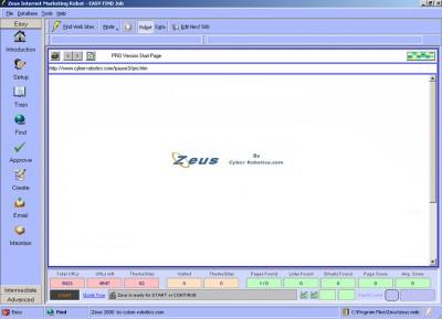 Zeus Internet Marketing Robot 4.2.59.94 screenshot