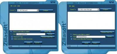 Zilla Audio Converter-Extractor 4.4.0.2 screenshot