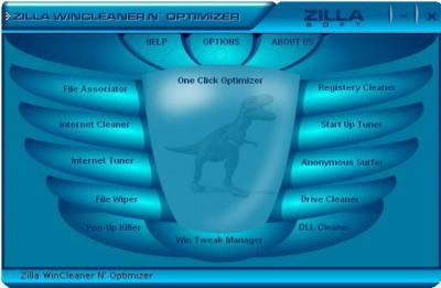 Zilla Free WinCleaner N' Optimizer 4.2.0.0 screenshot