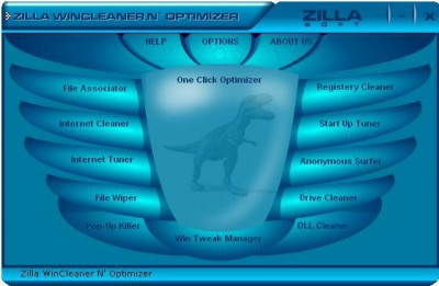 Zilla WinCleaner N' Optimizer 2.6.1.1 screenshot