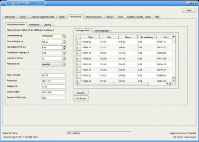 ZinsMath 4.01 screenshot
