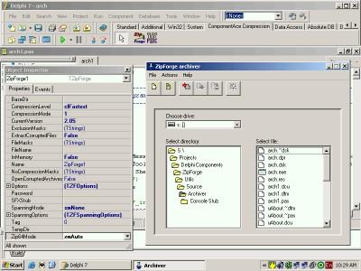 ZipForge 3.03 screenshot