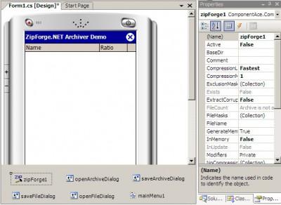 ZipForge.NET for Compact Framework 1.0 screenshot