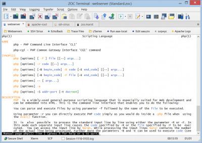 ZOC7 Terminal (SSH Client and Telnet) 7.26.3 screenshot