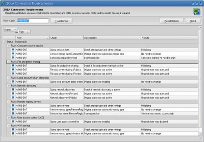 ZOLA Connection Troubleshooter 1.12.35.31 screenshot