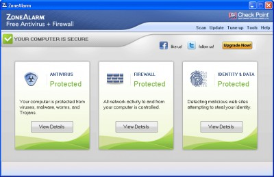 ZoneAlarm Free Antivirus + Firewall 10.2.064.0 screenshot