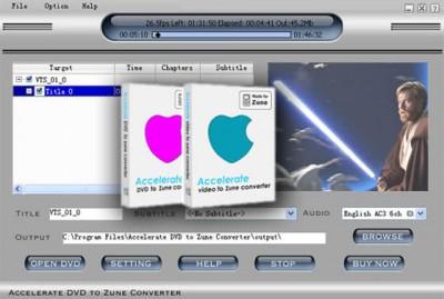 Zune Convert Video + DVD to Zune 2014.416 screenshot