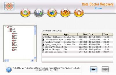 Zune Disk Files undelete Tool 3.0.1.5 screenshot