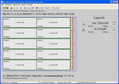 Zuschnittoptimierung WoodWorks (Windows) 1.3 screenshot