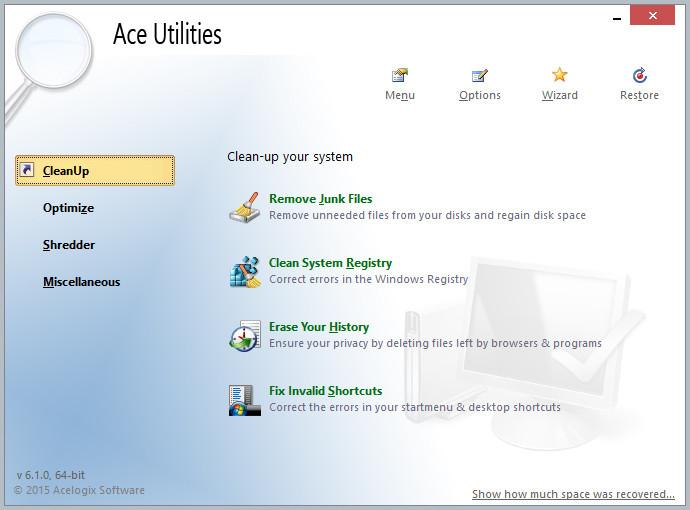 Скачать программу Ace Optimizer Utilities 5.2.3 Build 472 (2012