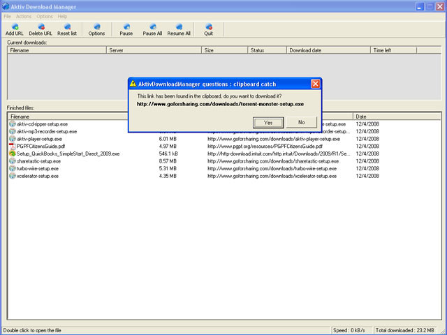 Aktiv Download Manager 5 3 0 review and download