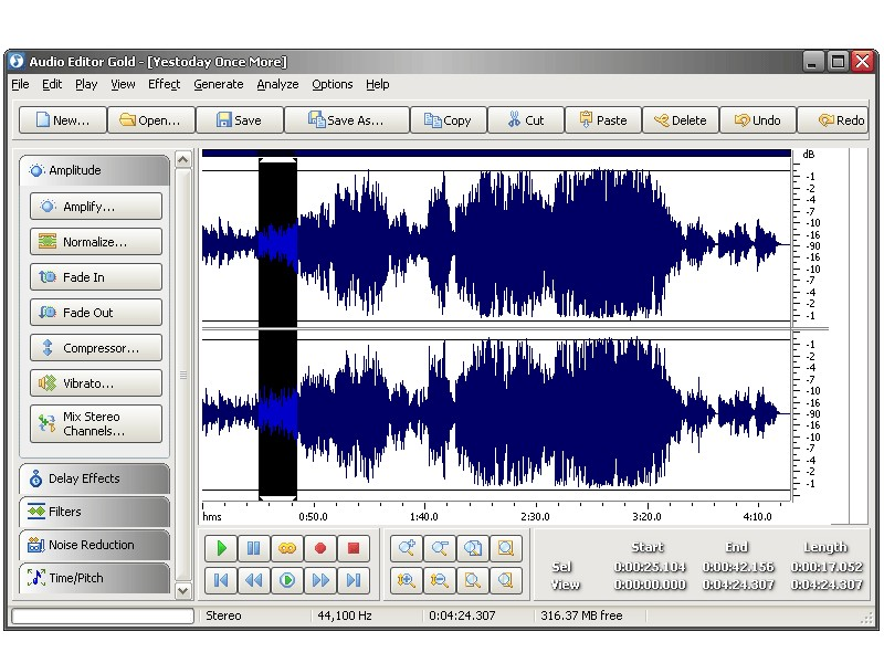 برنامج Audio Editor Gold 8.6.1.1359