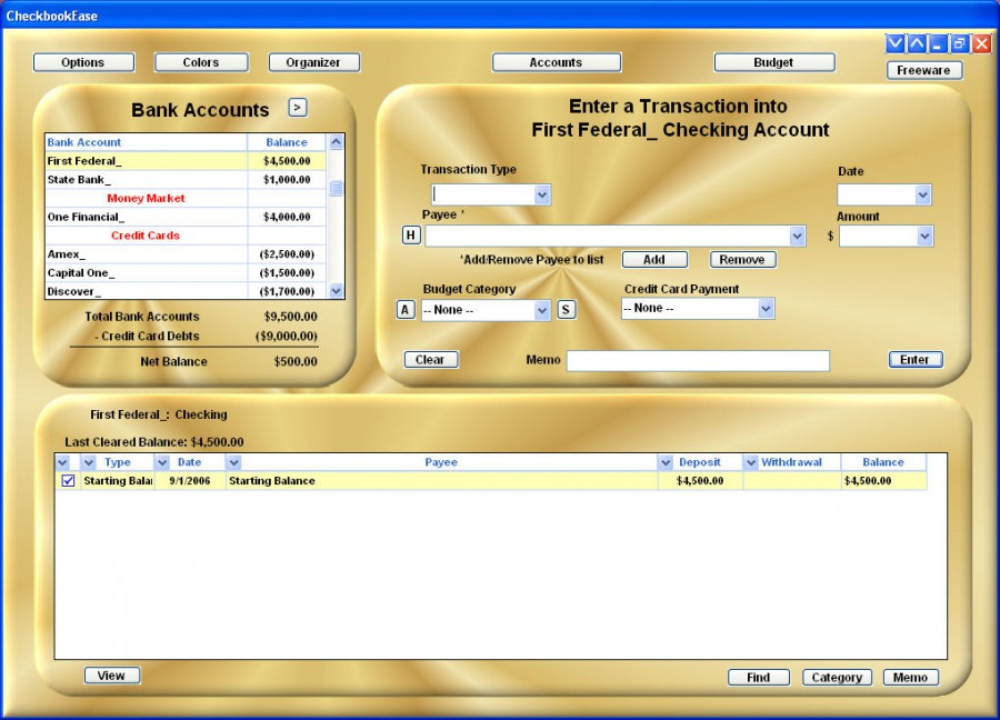 checkbook ease freeware 2 1 review and download
