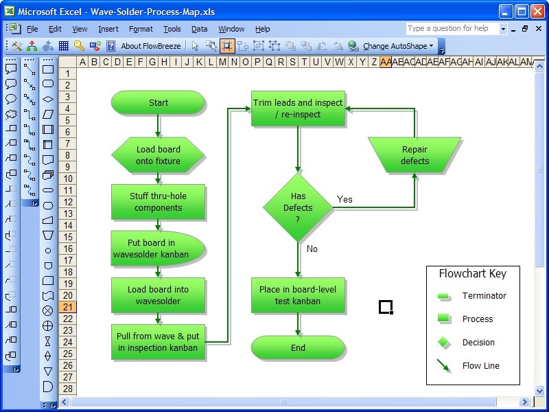 flowbreeze flowchart software      review and downloadflowbreeze flowchart software screenshot
