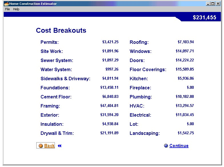 Blog archives bizmaster Building materials cost calculator