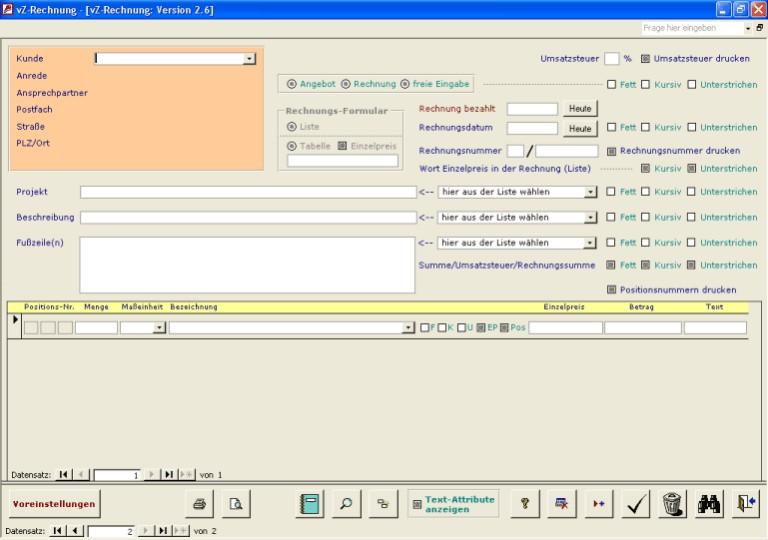 Vz Rechnung Access 97 26 übersicht Und Download