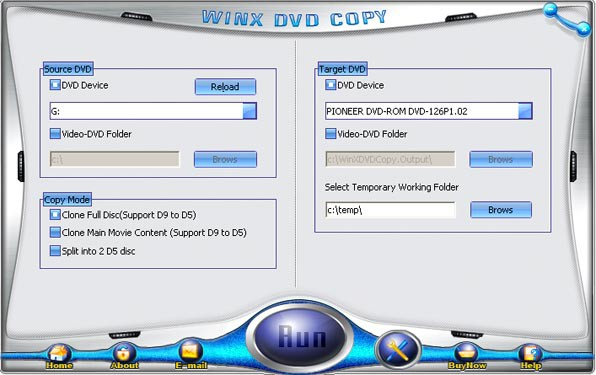 Real perfectly copy by 11 or 12 without distortion,Copy DVD to DVD